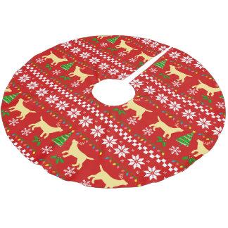 Falda Para El Árbol De Navidad De Poliéster Modelo feo del navidad de las astas amarillas de