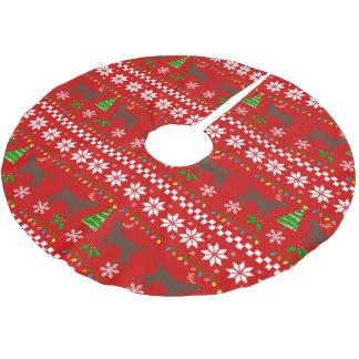 Falda Para El Árbol De Navidad De Poliéster Modelo feo del navidad de las astas de Labrador