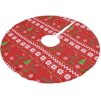 Falda Para El Árbol De Navidad De Poliéster Modelo feo del navidad de las astas del Dachshund