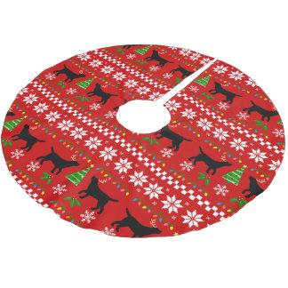 Falda Para El Árbol De Navidad De Poliéster Modelo feo del navidad de las astas negras de