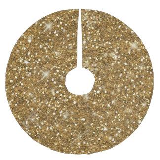 Falda Para El Árbol De Navidad De Poliéster Modelo ID144 del brillo del oro