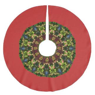 Falda Para El Árbol De Navidad De Poliéster Naturaleza festiva de las flores, mandala para el