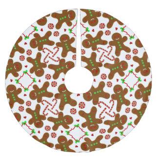 Falda Para El Árbol De Navidad De Poliéster Navidad del hombre de pan de jengibre