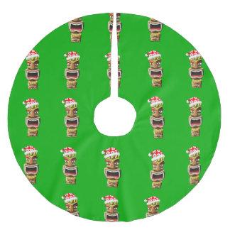 Falda Para El Árbol De Navidad De Poliéster Navidad hawaiano Santa Tiki