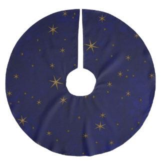 Falda Para El Árbol De Navidad De Poliéster Noche estrellada celestial