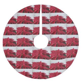 Falda Para El Árbol De Navidad De Poliéster Poinsettia del navidad