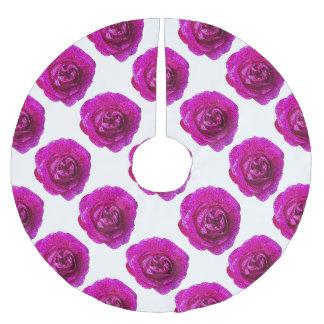 Falda Para El Árbol De Navidad De Poliéster Rosa color de rosa fracturado