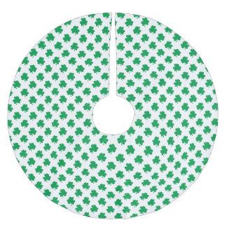 Falda Para El Árbol De Navidad De Poliéster Tréboles verdes en el trébol del día de St Patrick