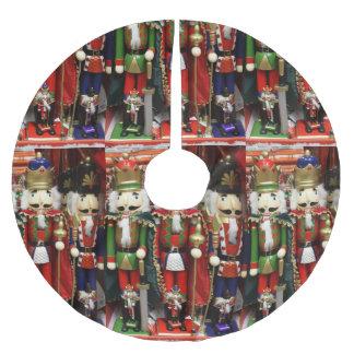 Falda Para El Árbol De Navidad De Poliéster Tres galletas sabias