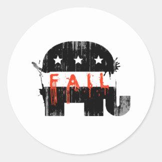 Fall republicano 1 Faded.png Pegatina Redonda