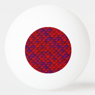 Falln escalas rojas y de la púrpura pelota de ping pong