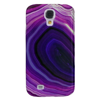 Falln remolinó Geode púrpura Funda Samsung S4