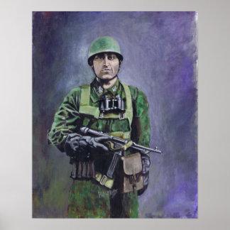 Fallschirmjäger (diablos verdes) posters