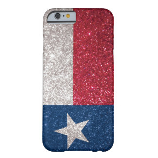 Falsa bandera de Tejas del brillo Funda Para iPhone 6 Barely There