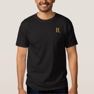 Falsa camiseta bordada para hombre de encargo del