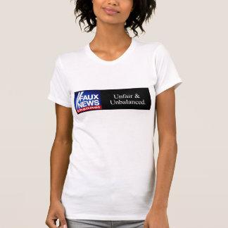 Falsa camiseta del canal de noticias