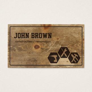 Falsa carpintería de madera profesional de la tarjeta de negocios