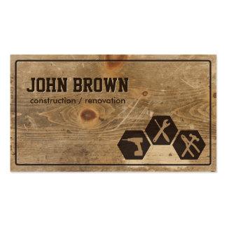 Falsa carpintería de madera profesional de la tarjetas de visita