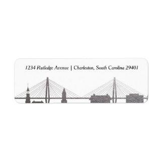 Falsa etiqueta de plata de Charleston Carolina del Etiqueta De Remitente
