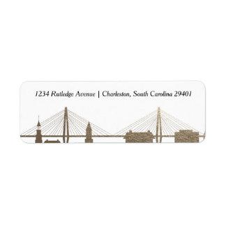 Falsa etiqueta del oro de Charleston Carolina del Etiqueta De Remite