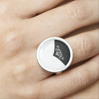 """Falsa """"extremidad de lujo del francés"""" con de anillos con foto"""