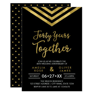 Falsa fiesta de aniversario moderna de Chevron Invitación 12,7 X 17,8 Cm