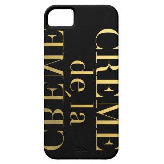 Falsa hoja de oro Creme De La Creme Black Funda Para iPhone SE/5/5s