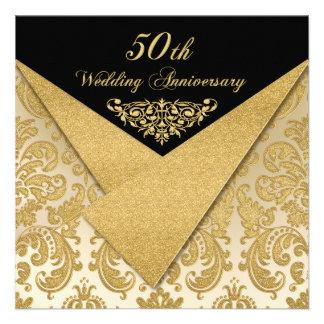 FALSA invitación 2 del aniversario del damasco 50.