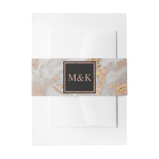 Falsa invitación color de rosa moderna del boda cintas para invitaciones