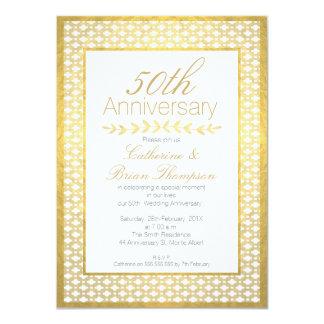 Falsa invitación del aniversario del boda 50.o de