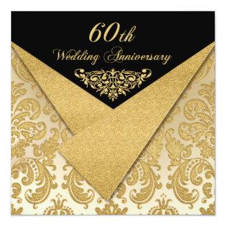 FALSA invitación del aniversario del damasco 60.o