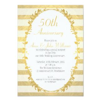 Falsa invitación del aniversario del oro 50.o de