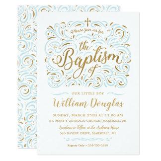 Falsa invitación del bautismo del muchacho del