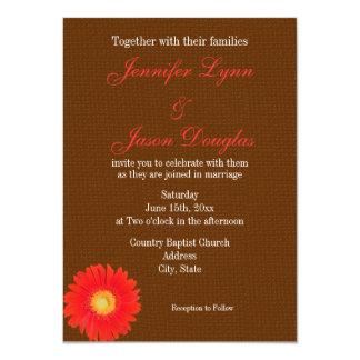Falsa invitación del boda de la arpillera de la