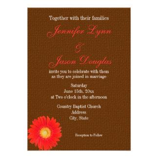 Falsa invitación del boda de la arpillera de la ma