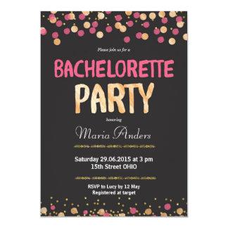 Falsa invitación del fiesta de Bachelorette del