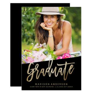 Falsa invitación despreocupada de la graduación