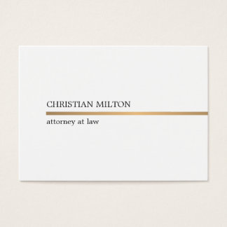 Falsa línea blanca elegante minimalista abogado tarjeta de negocios