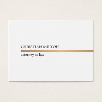 Falsa línea blanca elegante minimalista abogado tarjeta de visita
