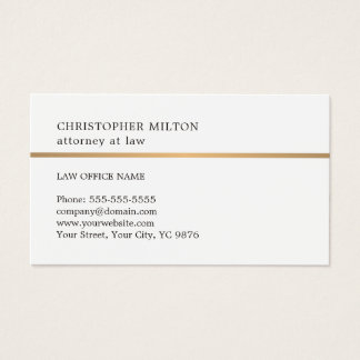 Falsa línea de cobre blanca elegante minimalista tarjeta de negocios