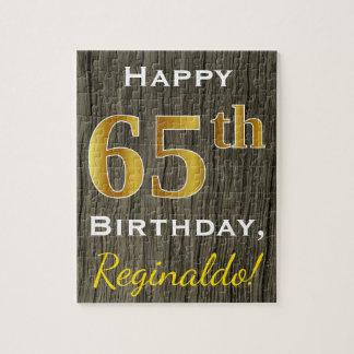 Falsa madera, 65.o cumpleaños del falso oro + puzzle