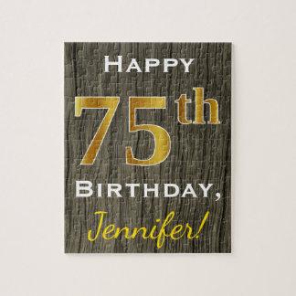 Falsa madera, 75.o cumpleaños del falso oro + puzzle
