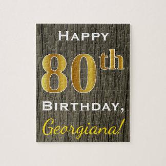 Falsa madera, 80.o cumpleaños del falso oro + puzzle