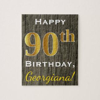 Falsa madera, 90.o cumpleaños del falso oro + puzzle
