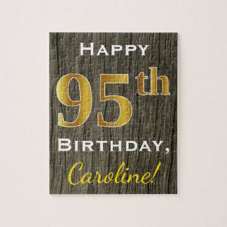 Falsa madera, 95.o cumpleaños del falso oro + puzzle