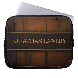 Falsa madera de pino báltica manga del ordenador mangas portátiles