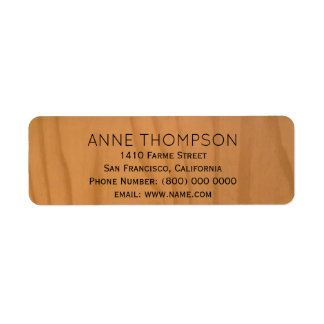 falsa madera rústica con nombre etiquetas de remite