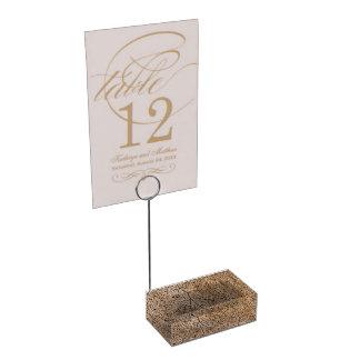 Falsa madera soporte para tarjeta de mesa