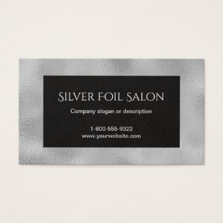 Falsa mirada de la hoja de plata con negro tarjeta de visita