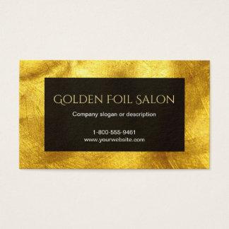 Falsa mirada de oro de la hoja con negro tarjeta de visita